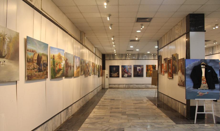 افتتاح المعرض السنوي لفرع الرسم في قسم الفنون التشكيلية