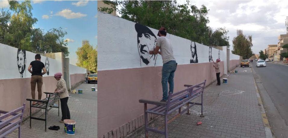 حملة تطوعية لرسم جداريات قسم الفنون المسرحية