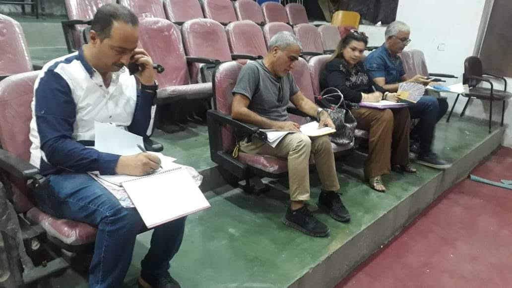 قسم الفنون المسرحية يجري اختبارات القبول للطلبة المتقدمين
