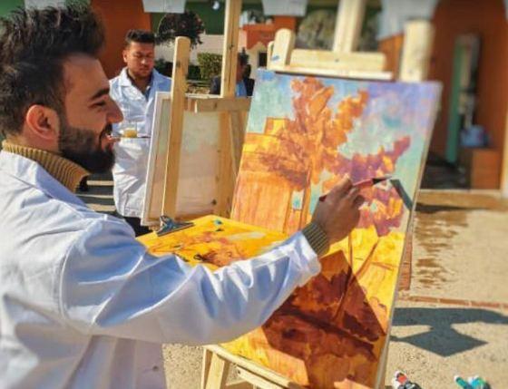 فوز طالب من قسم الفنون التشكيلية بالجائزة الاولى لمهرجان رسام شباب الانبار