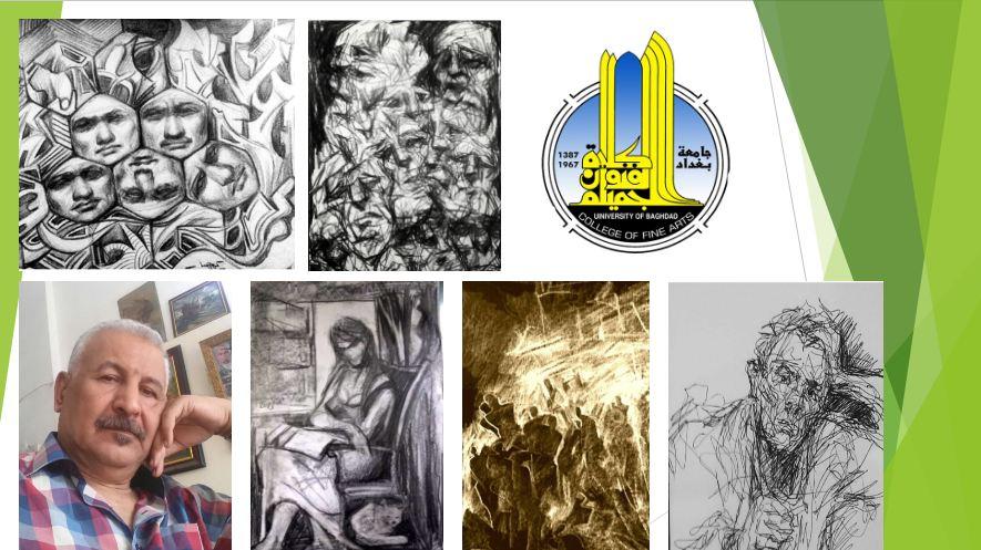 """انطلاق المعرض الافتراضي الموسوم """"هواجس فنية"""" للتدريسي عبد الكريم عبد الجبار"""